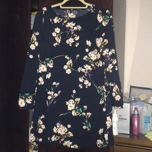 Lulu's Dresses - Navy floral dress (Lulu's)